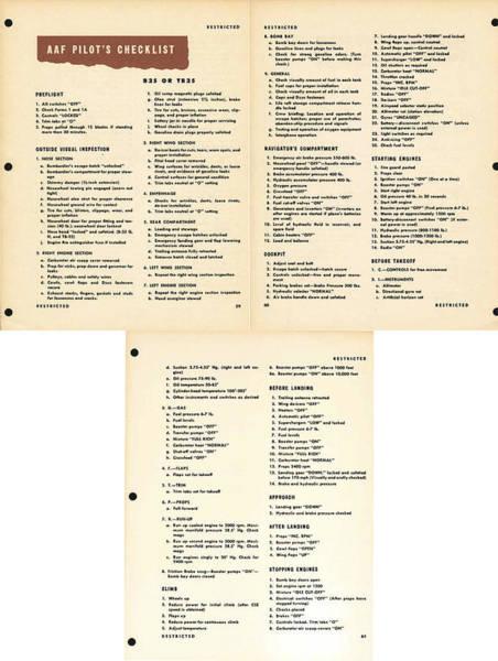 Photograph - B25 Bomber Pilot Checklist by John King