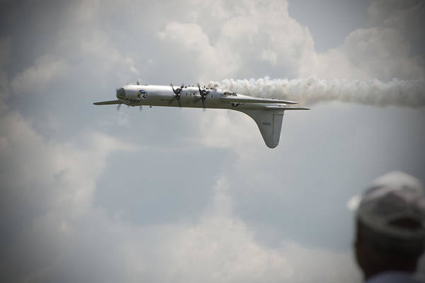 B29 Photograph - B29 In An Upside Down World by Jayne Gohr