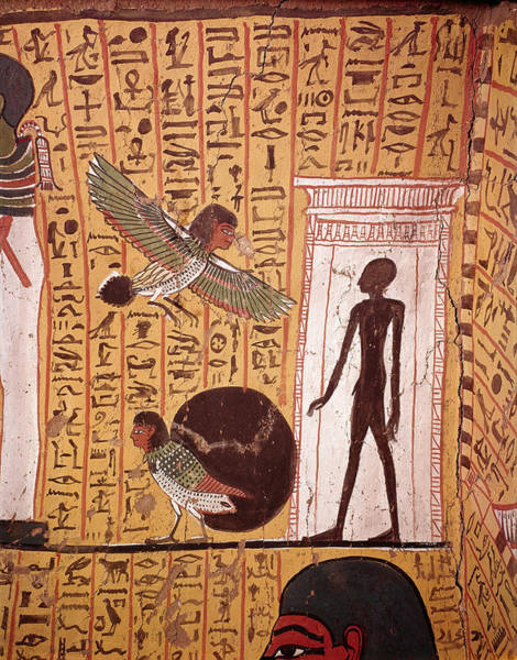 Wall Art - Painting - Ba Birds In Tomb Of Irinufer by Brian Brake