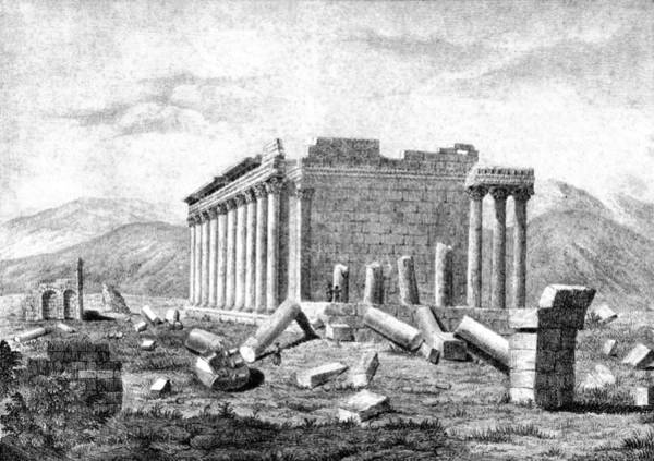 Photograph - Baalbek Aka Heliopolis, 1845 by British Library