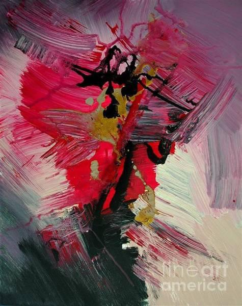 Pink Champagne Painting - Baaria by Roya Gharavi