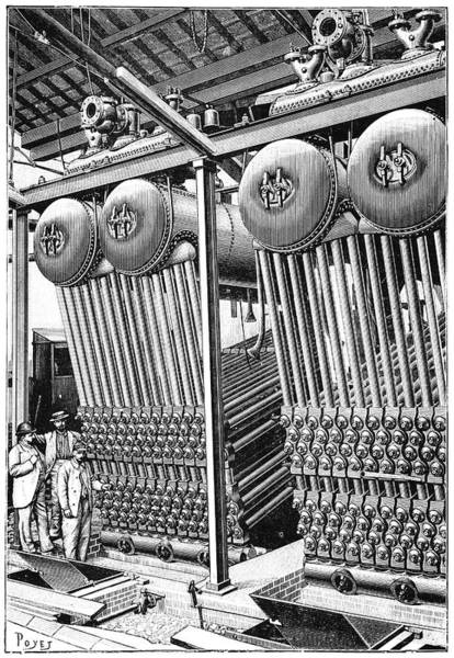 Revue Photograph - Babcock And Wilcox Boilers, 1897 by Science Photo Library