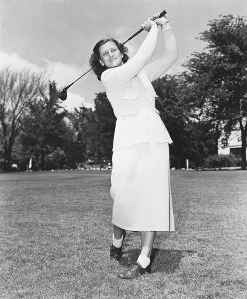 Babe Photograph - Babe Didrikson Golfing by Underwood Archives