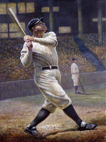 Wall Art - Painting - Babe Ruth by Gregory Perillo