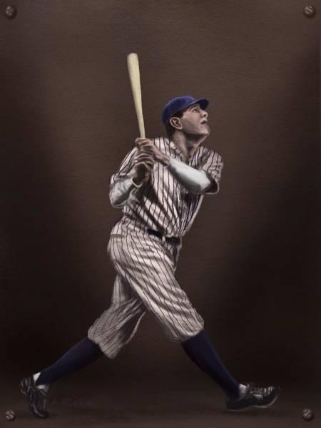 Yankee Stadium Digital Art - Babe Ruth by Jeremy Nash