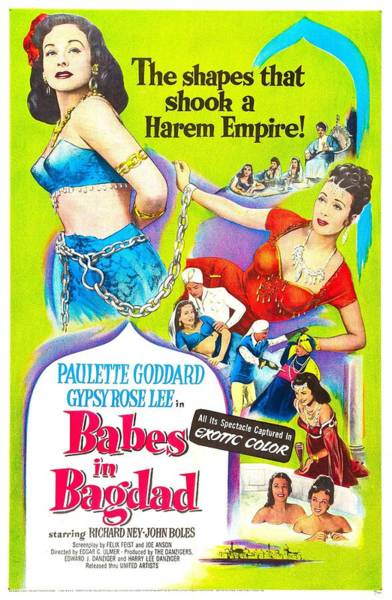 Wall Art - Photograph - Babes In Bagdad, Us Poster, From Left by Everett