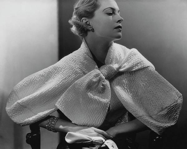 1934 Photograph - Babs Lee Wearing A Taffeta Jacket by Lusha Nelson