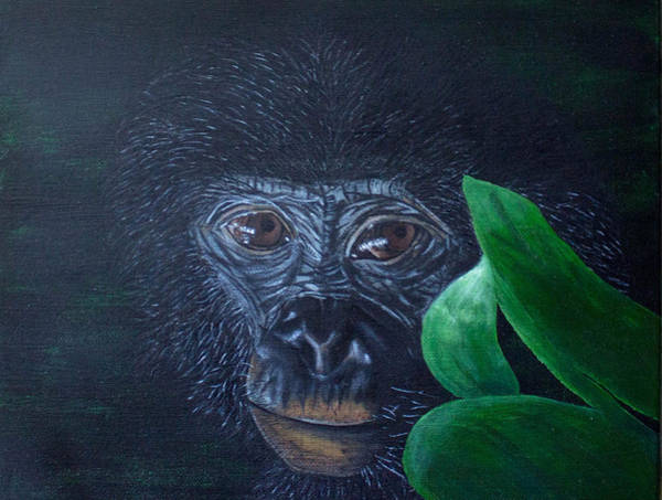 Baby Gorilla Painting - Baby Ape by Michelle Dunn