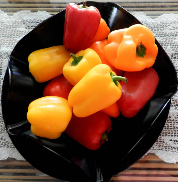 Photograph - Baby Bell Peppers by Grace Dillon