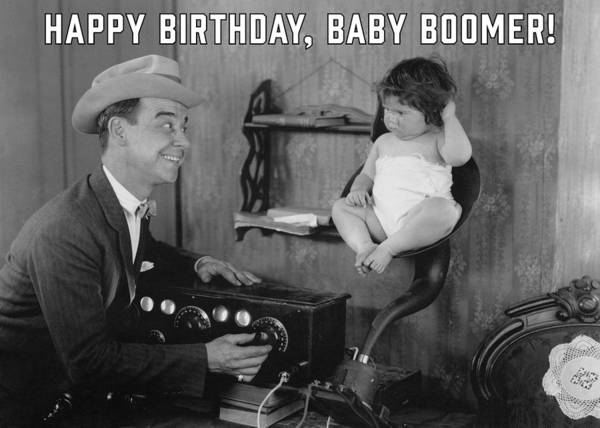 Wall Art - Photograph - Baby Boomer Birthday Greeting Card by Communique Cards