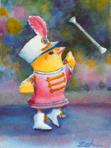 Baby Chick Drum Majorette Art Print