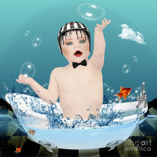 Bubble Bath Photograph - Baby Fun Time by Mark Ashkenazi