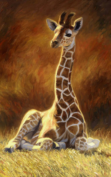 Painting - Baby Giraffe by Lucie Bilodeau
