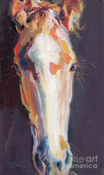 Chestnut Horse Painting - Baby Girl by Kimberly Santini