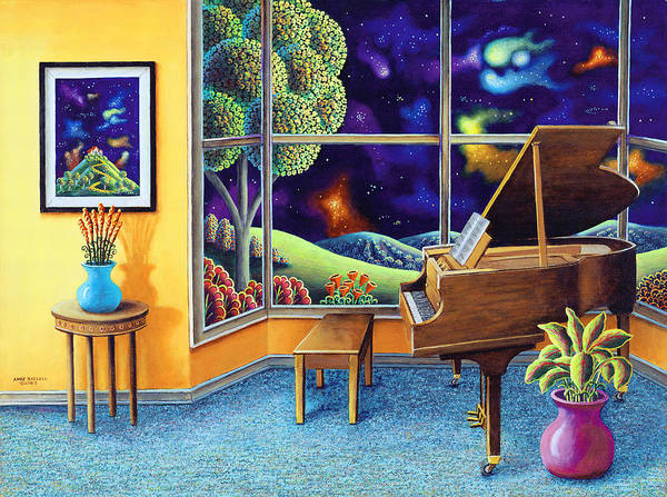 Wall Art - Painting - Baby Grand by MGL Meiklejohn Graphics Licensing