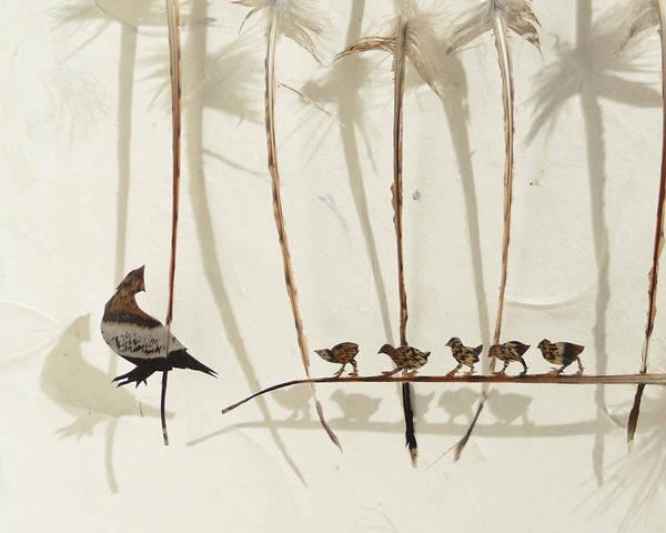 Wall Art - Mixed Media - Baby Grouse by Chris Maynard