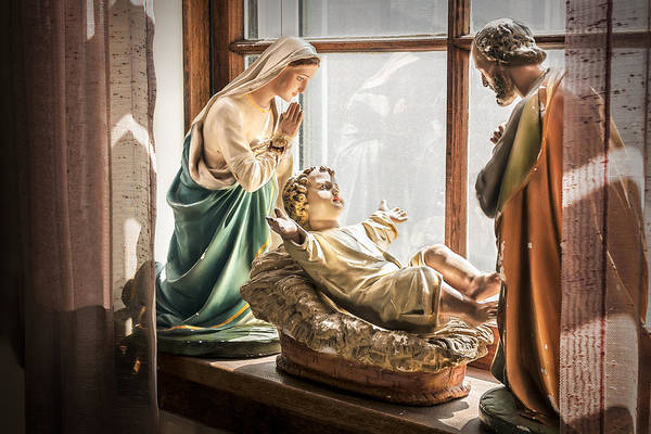 Photograph - Baby Jesus Welcoming A New Day by Nancy Strahinic