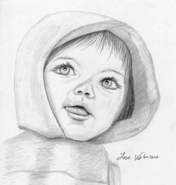 Drawing - Baby by M Valeriano