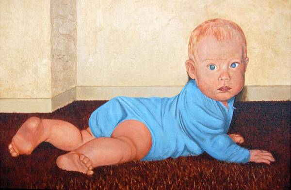 Painting - Baby Marcus by AnnaJo Vahle