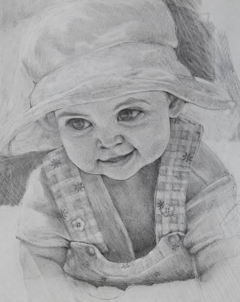 Drawing - Baby Meg by Jani Freimann