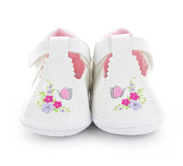 Baby Photograph - Baby Shoes by Elena Elisseeva