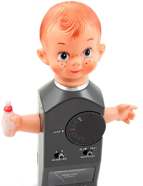 Photograph - Baby With A Sound Level Meter As Body by Gunter Nezhoda