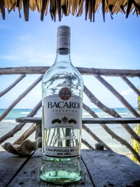 Bacardi Photograph - Bacardi And Beach by Jijo George