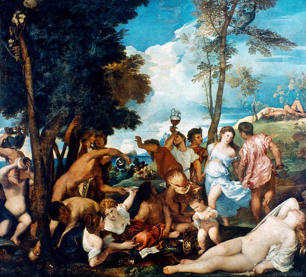 Andros Photograph - Bacchanal Of The Andrians by Granger