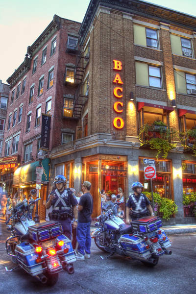 Italian Immigrants Wall Art - Photograph - Bacco In The North End Boston by Joann Vitali