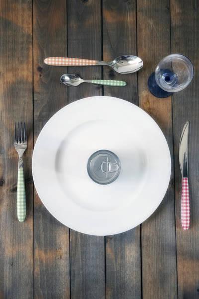 Tin Can Wall Art - Photograph - Bachelor's Dinner by Joana Kruse