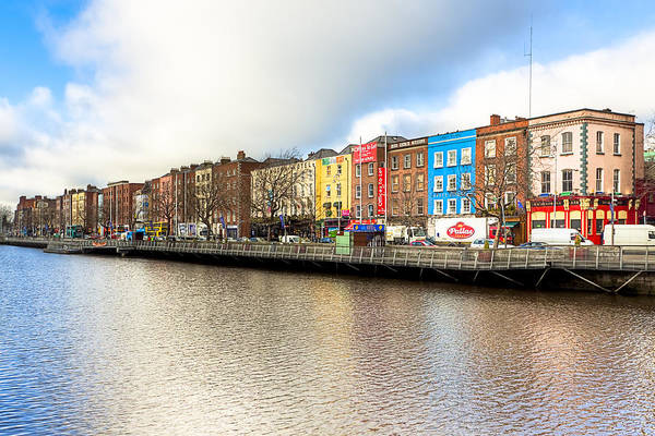 Photograph - Bachelor's Walk On The River Liffey In Dublin by Mark E Tisdale