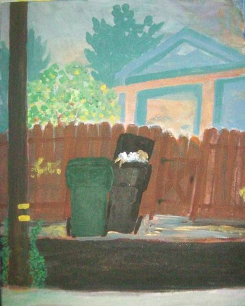 Recycling Painting - Back Alley by James Christiansen