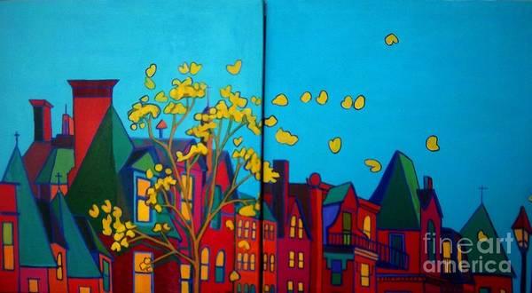 Back Door Painting - Back Bay Boston by Debra Bretton Robinson