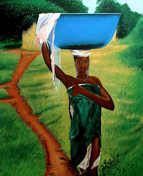 Painting - Back From Dipo by Laurend Doumba