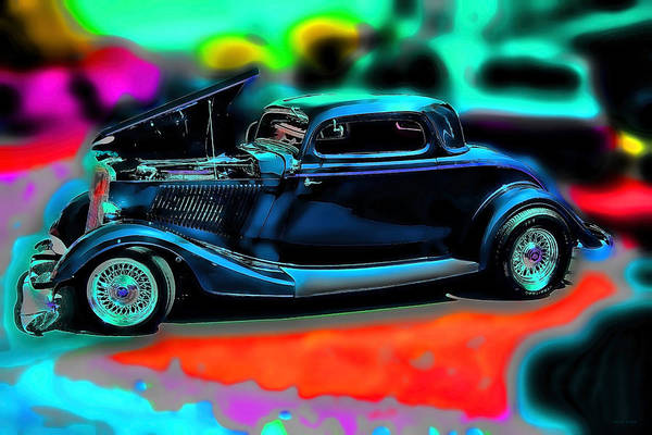 Mixed Media - Back In The Day Vintage Car Art by Lesa Fine