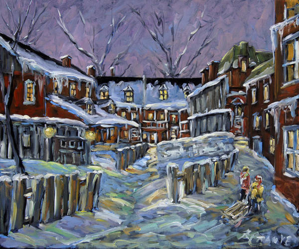 Canadien Painting - Back Lanes Buddies By Prankearts by Richard T Pranke
