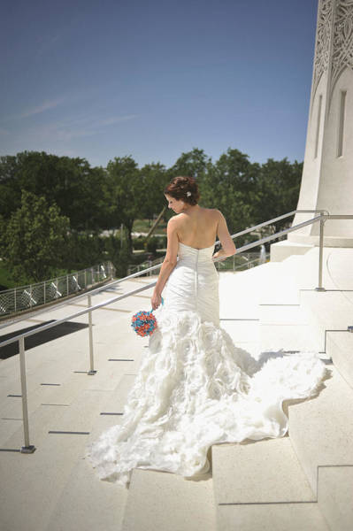 Wall Art - Photograph - Back Of Bride At Baha'i Temple by Mike Hope