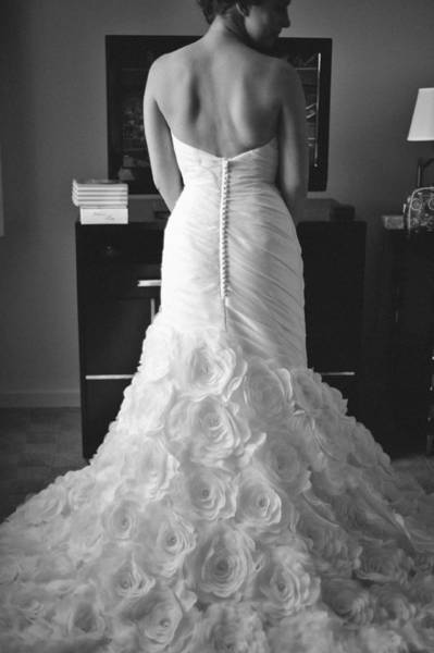 Wall Art - Photograph - Back Of Bride In Wedding Dress by Mike Hope