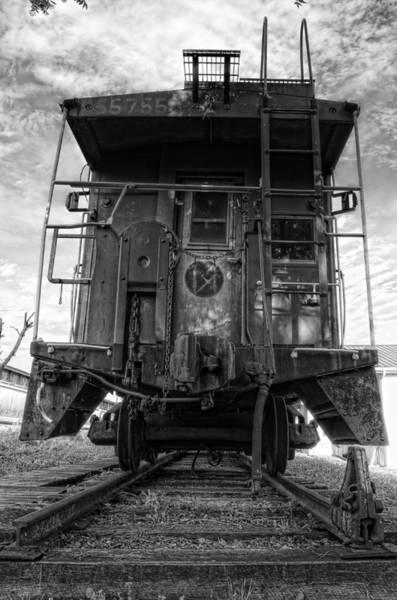 Norfolk Virginia Wall Art - Photograph - Back Of The Line - Bw by Steve Hurt