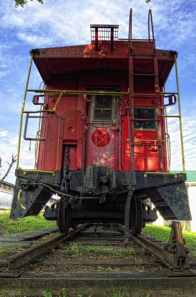 Red Caboose Photograph - Back Of The Line by Steve Hurt
