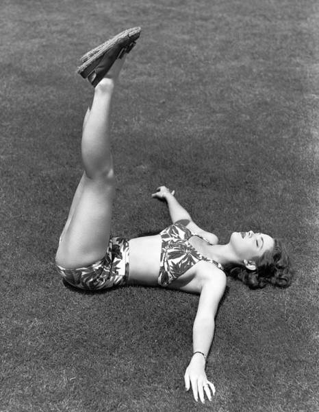 Back In The Day Photograph - Back To Earth Exercise by Underwood Archives
