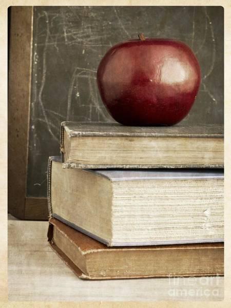 Old School Photograph - Back To School Apple For Teacher by Edward Fielding