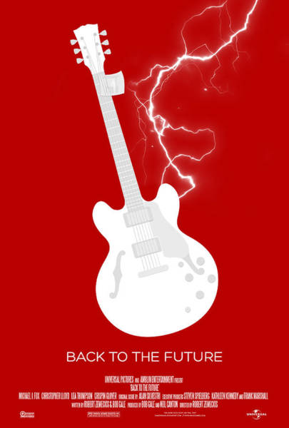 Valleys Digital Art - Back To The Future Custom Poster by Jeff Bell