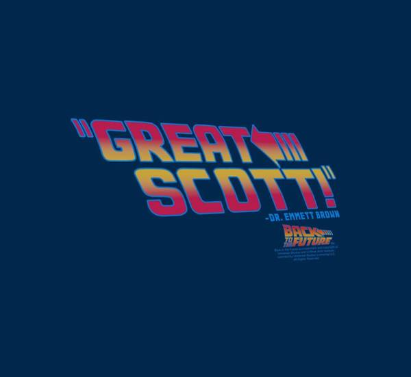 Wall Art - Digital Art - Back To The Future - Great Scott by Brand A
