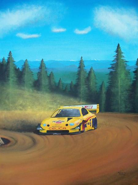 Pikes Peak Painting - Back To The Top by Kieran Roberts