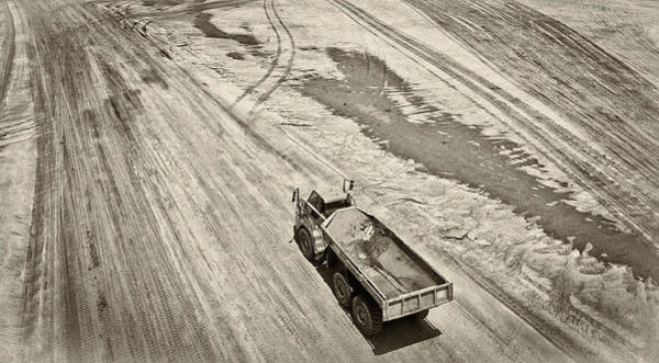 Dump Truck Photograph - Back To Work by Patrick M Lynch