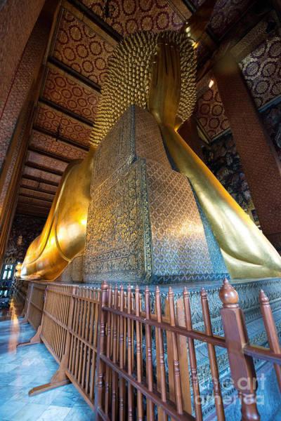 Photograph - Back View Of Reclining Buddha by Yew Kwang