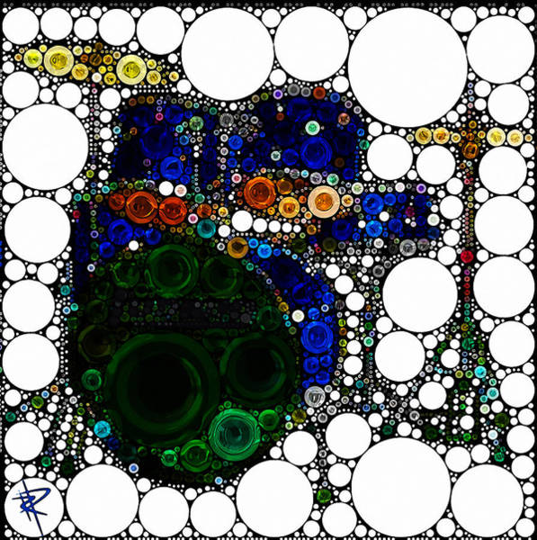 Drum Circle Wall Art - Mixed Media - Backbeat Bubbles by Russell Pierce