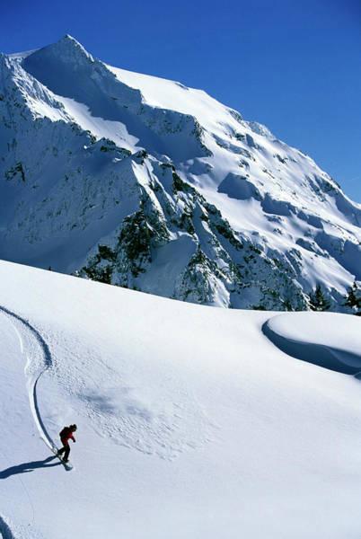 Backcountry Snowboarding Near Mt Art Print