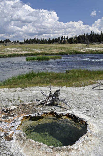 Photograph - Backcountry Thermal Pool On Yellowstone's Firehole River by Bruce Gourley